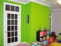 Esempio tinteggiatura interna color verde